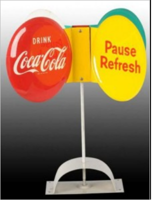 Coca Cola Spinning Sign
