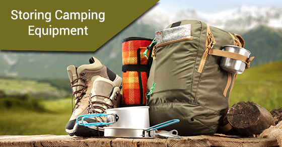 Storing Camping Equipment