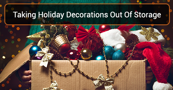 Taking Holiday Decorations Out Of Storage