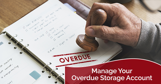 Managing the storage account overdue