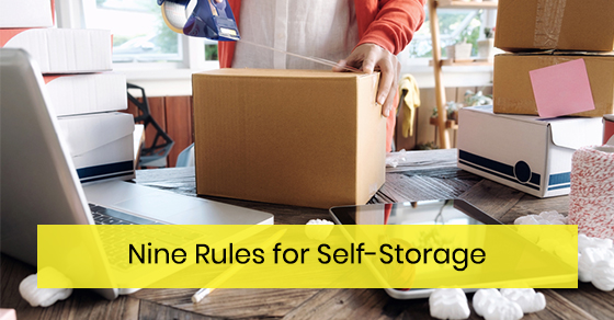 Nine Rules for Self-Storage