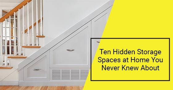 Hidden storage spaces at home