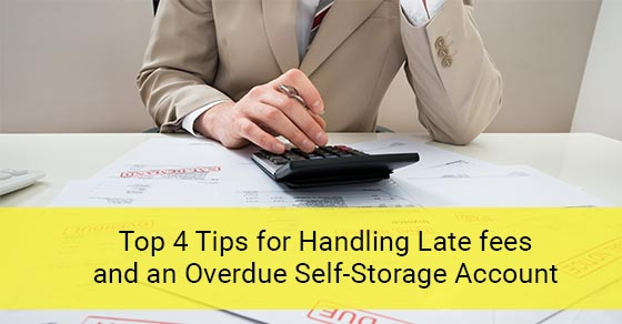 How to handle self-storage over dues.