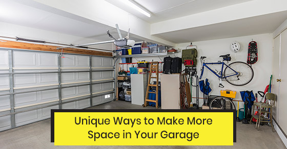 Create more space in your garage