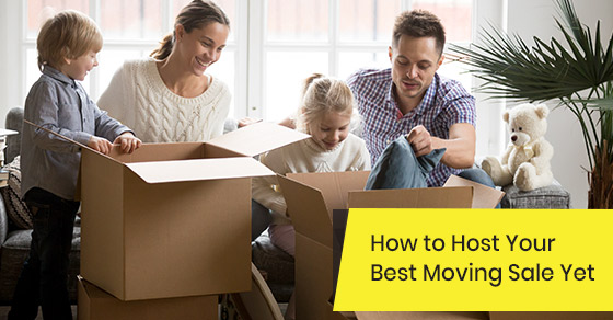 Tips to host a great moving sale